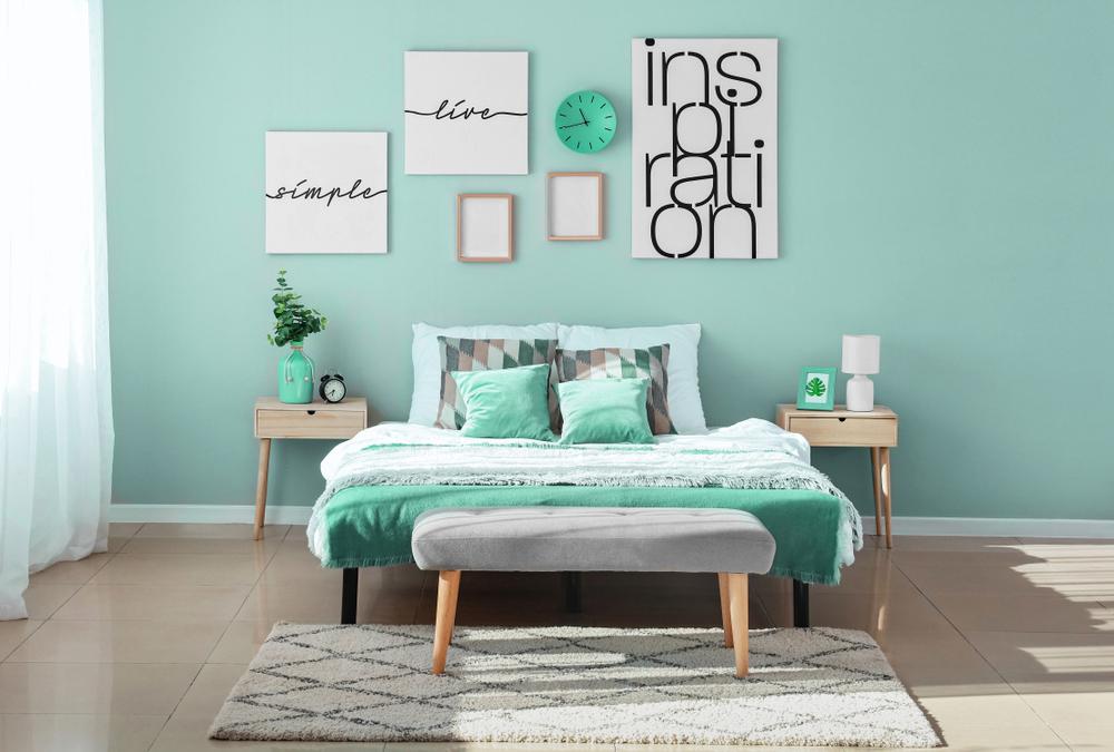 dormitor patrat cromatica