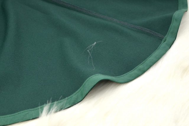 Hemming with bias tape