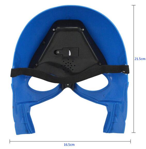 Máscaras de LED capitão america dentro