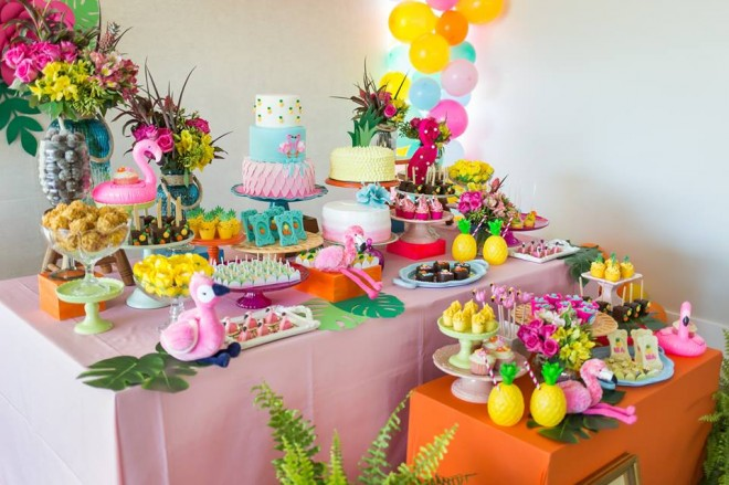 Tema Flamingo para Festa de 30 anos