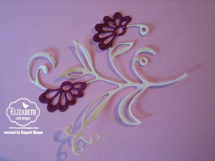 ECD Glitter Inlay flower glitter step 1
