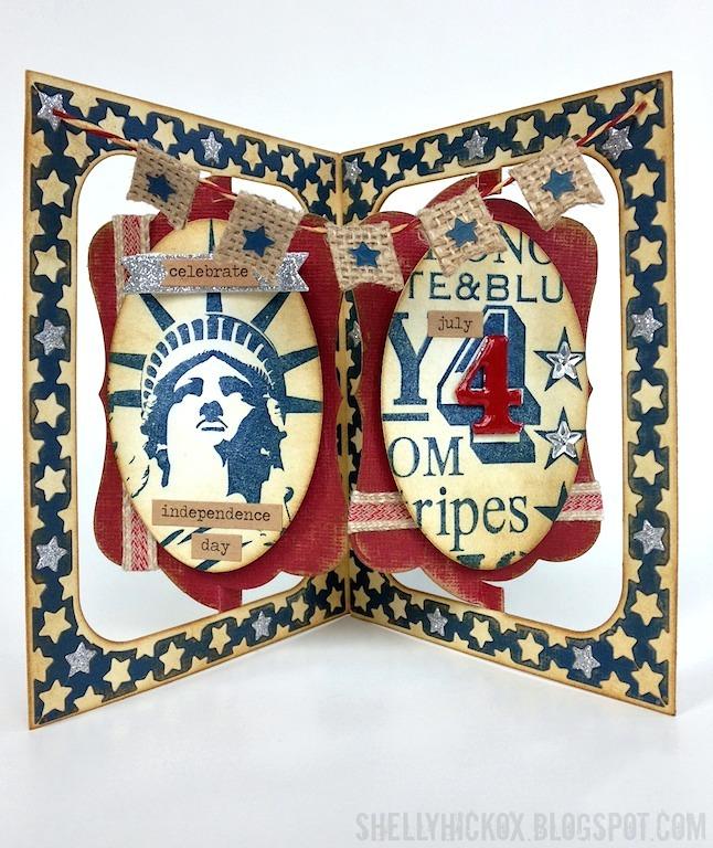 shelly hickox pop it ups patriotic card