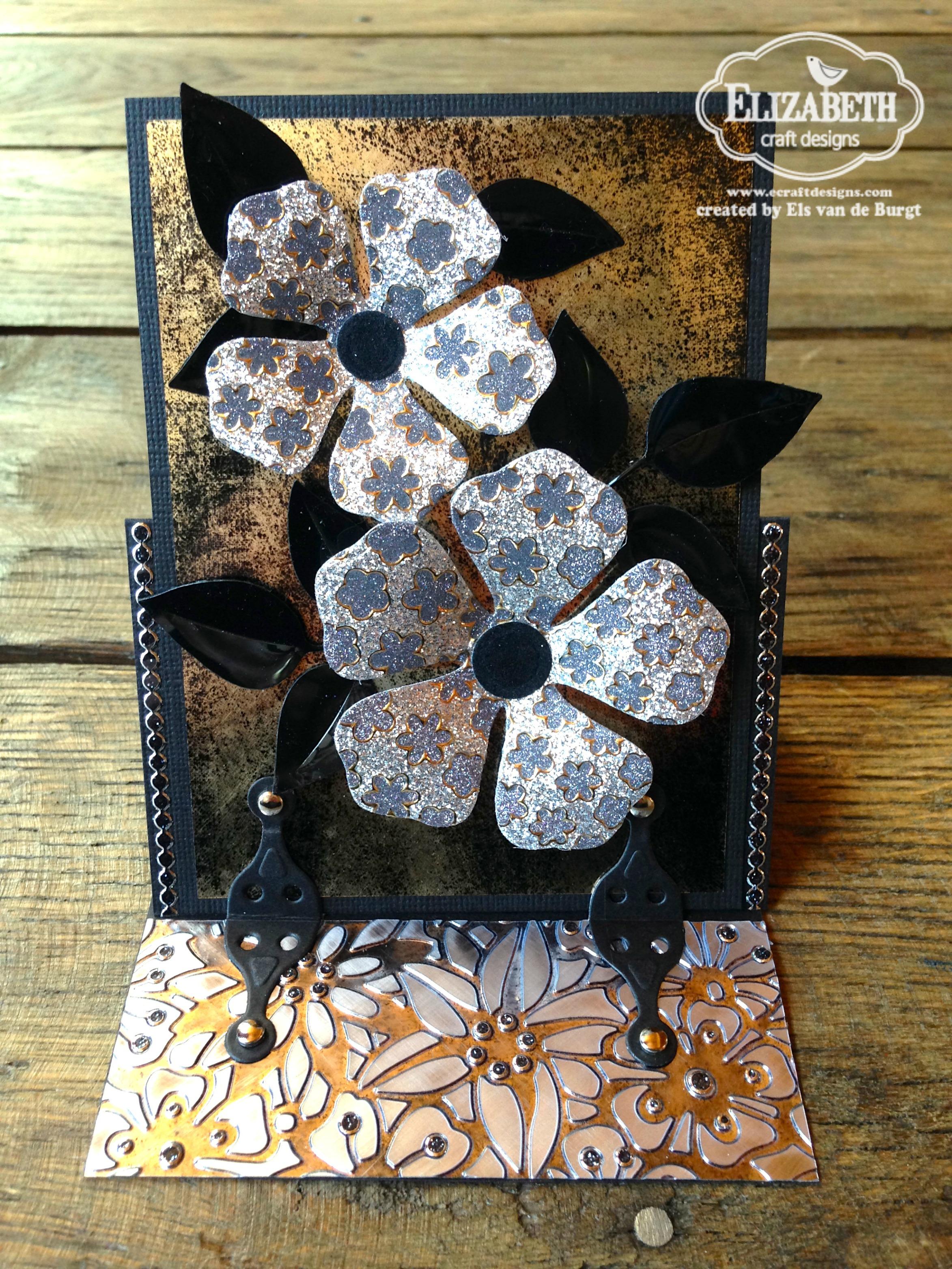 Elizabeth Craft Designs Stand Up Helpers : Flower power stand up helper card u elizabeth craft designs