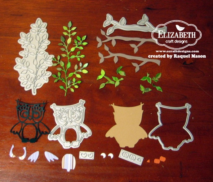 ECD owl pieces