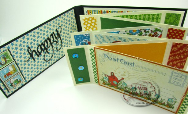 Elizabeth Craft Designs Suzanne Cannon Summer Graphic 45 mini album summer Mother Goose Kathy Jo Wood 4