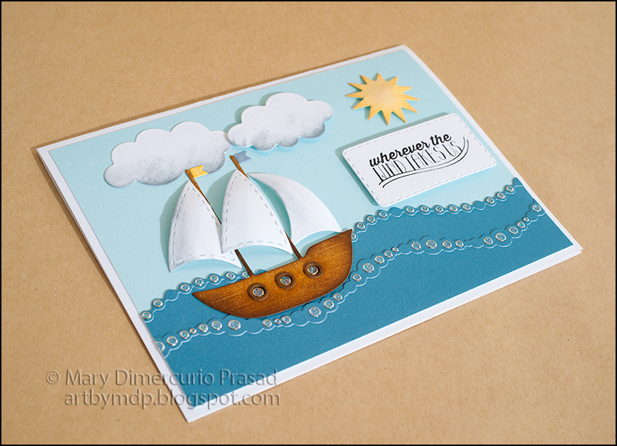 Boat Card Angled