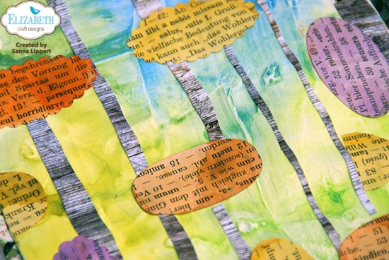 Sanna Lippert, die cut detail art journal page