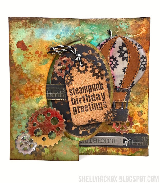 Pop it Ups Wednesday With Shelly Steampunk Birthday Pull Card – Steampunk Birthday Card