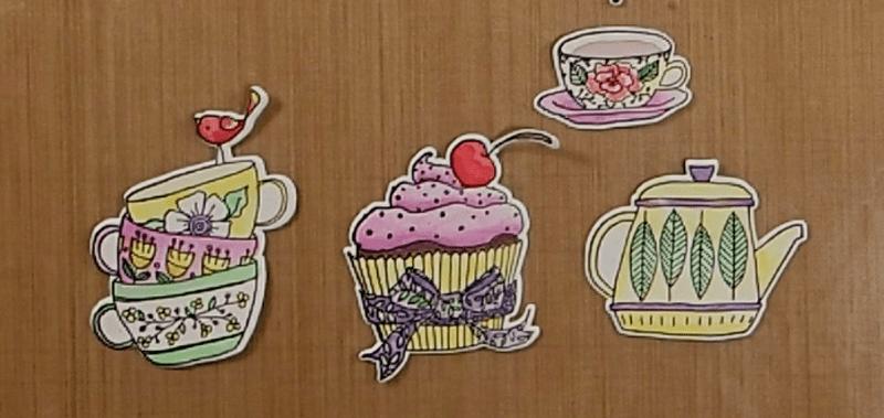 Tea Time Accordion Card How To: Step 1