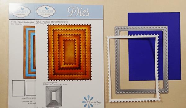 Row Houses Postage Stamp Card - Step 2