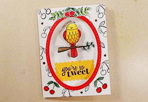 Bird on a Wire Card - Step 9