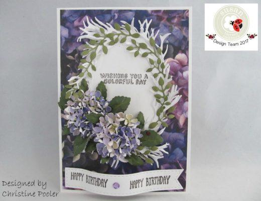 Happy Hydrangea by Christine Pooler