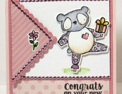 Zoo Babies Panda Baby Card