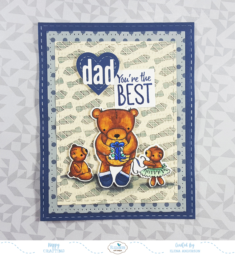 Teddy Bear Father's Day Card