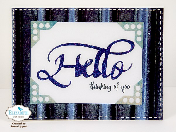 Negative Die Cut Card by Sanna Lippert