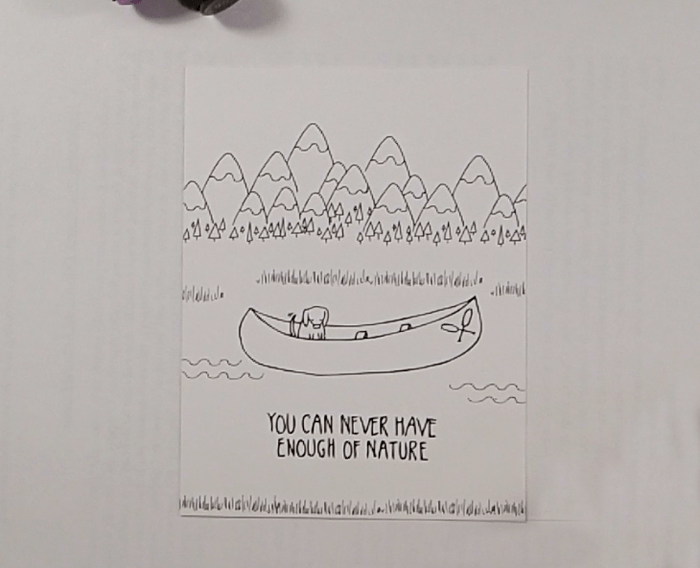 Camping Out Colorado Canoe Card - Step 1