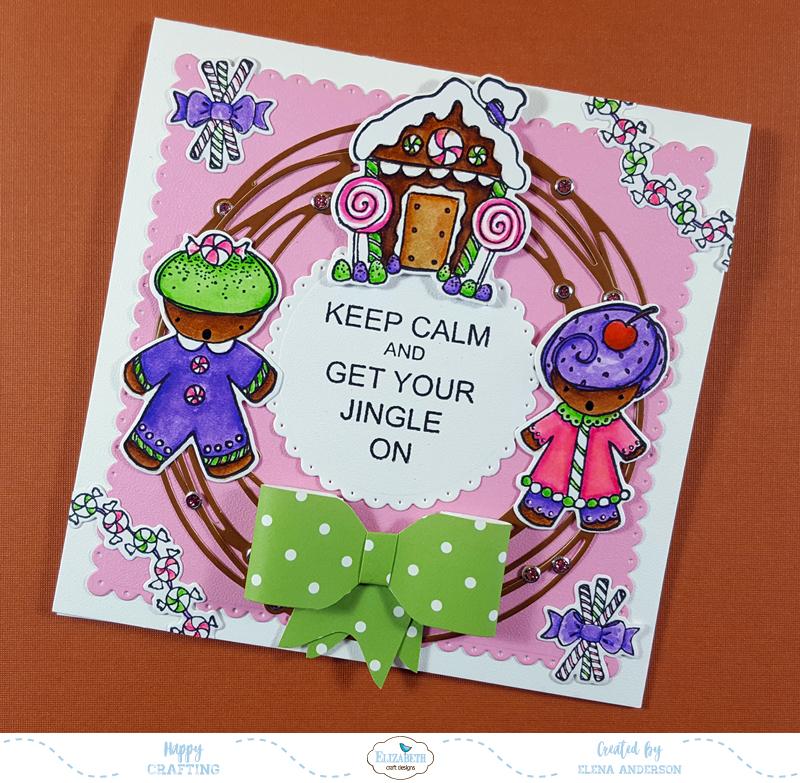 Gingerbread Christmas Wreath Card