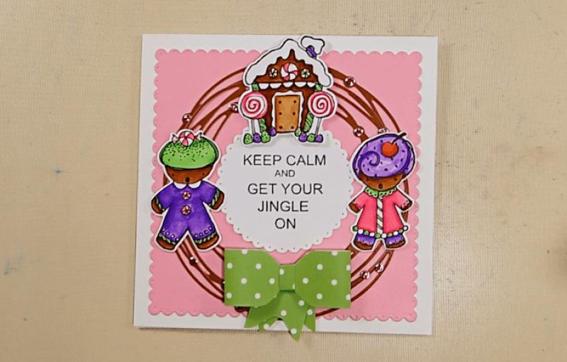 Gingerbread Christmas Wreath Card - Step 3