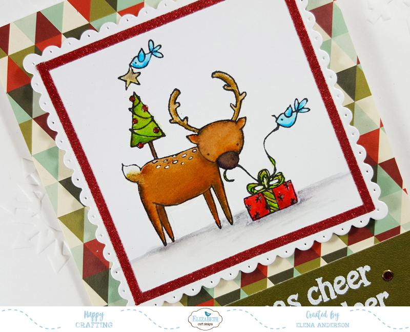 Deer Friends Christmas Card - Detail