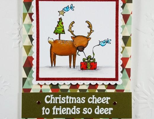 Deer Friends Christmas Card