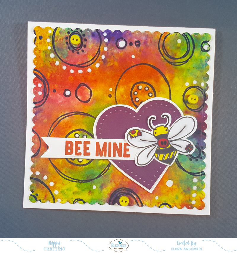 Colorful Watercolor Crystal Valentine