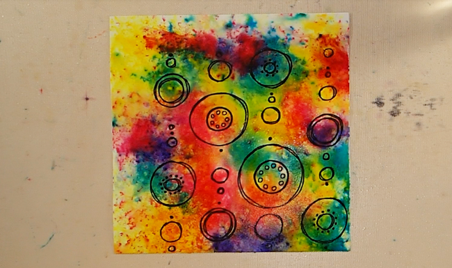 Colorful Watercolor Crystal Valentine - Step 1