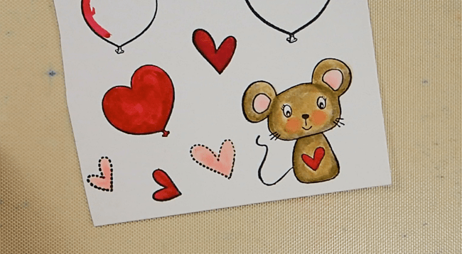 Manly-ish Mouse Valentine - Step 1