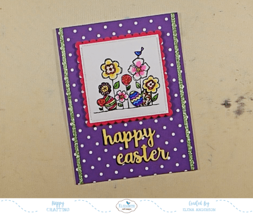 Bright & Colorful Floral Easter Card - Step 5
