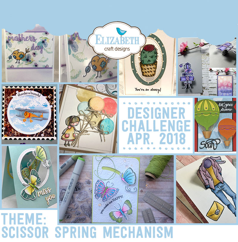 Elizabeth Craft Designs Designer Challenge April 2018 Elizabeth