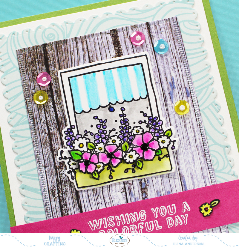 Colorful Window Box Card - Detail