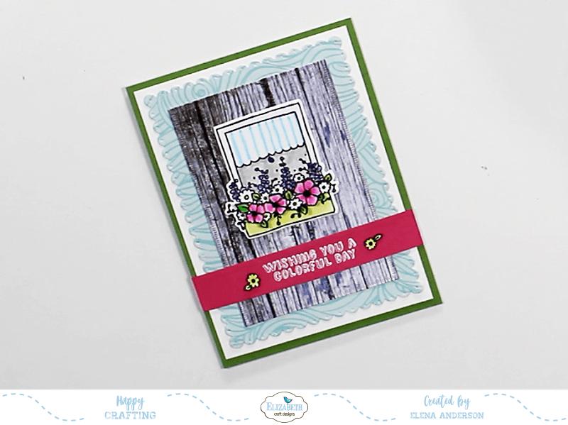 Colorful Window Box Card - Step 4