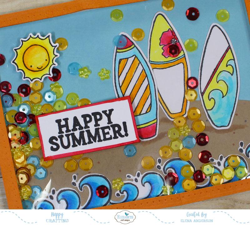 Fun In The Sun Shaker Card Detail