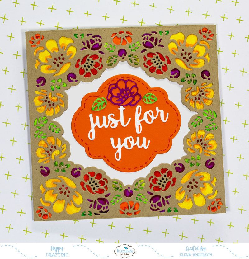 Fall Flower Lace Frame Card