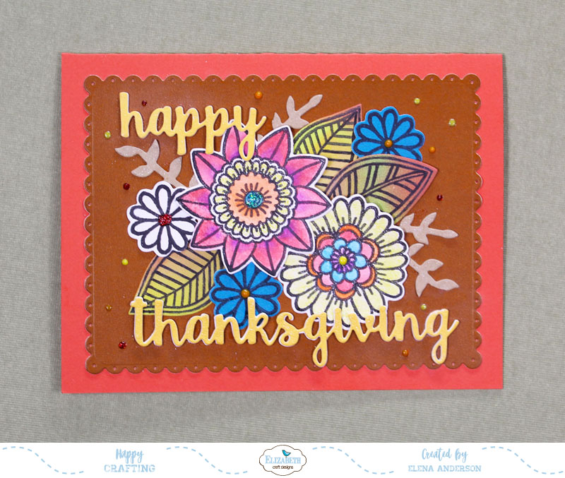 Non-Traditional Floral Thanksgiving Card