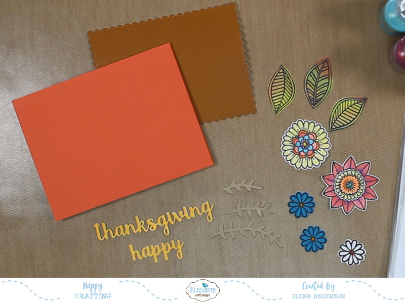 Floral Thanksgiving Card - Step 4