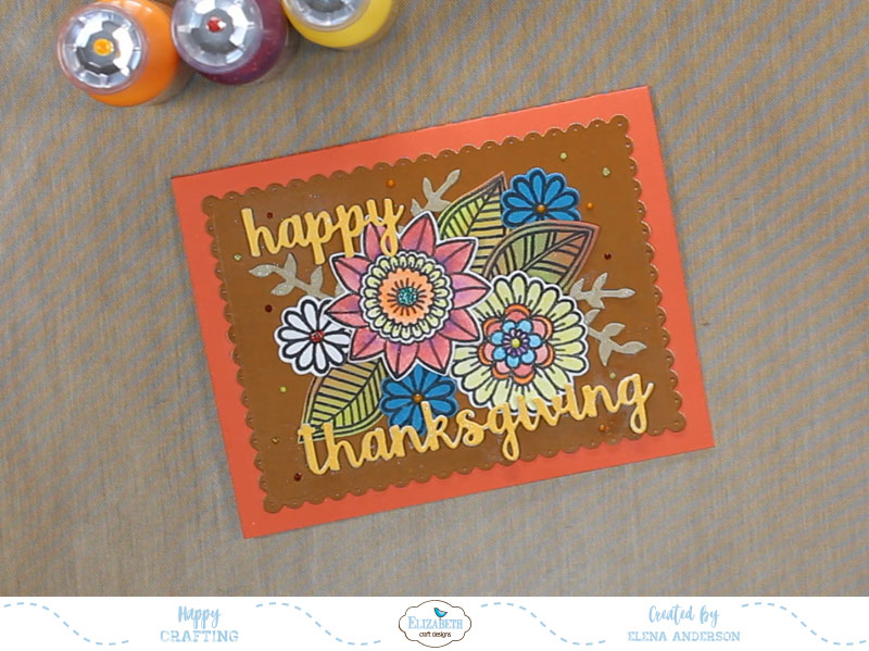 Floral Thanksgiving Card - Step 5