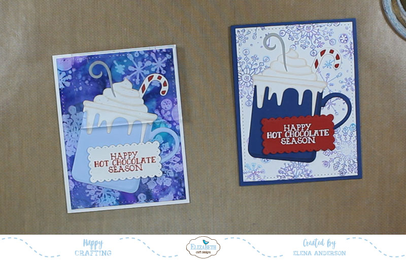 Whimsical Happy Hot Chocolate Season Cards - Step 5