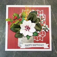 Clematis Birthday Card