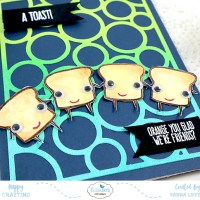 "Fun ""Cute Food"" Clear Stamp Card Ideas"