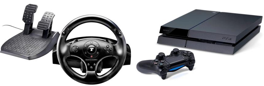 Thrustmaster T100 und T500 an der Playstation 4
