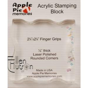 Clear Acrylic Block, 2.25x2.25 Square w/ Finger Grips - 878618000442