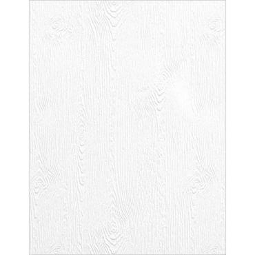 Essentials by Ellen, Woodgrain Embossed  #110 Cardstock, White, 10 Pk -
