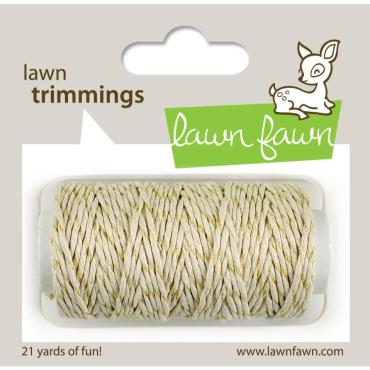 Lawn Fawn Hemp Cord, Gold Sparkle - 0030915068789