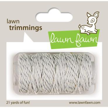 Lawn Fawn Hemp Cord, Silver Sparkle - 0030915068796