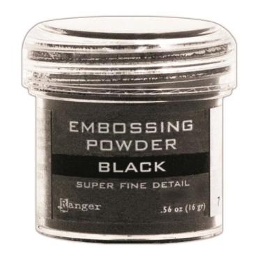 Ranger Super Fine Embossing Powder, Black - 789541037392