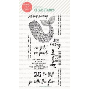 Essentials by Ellen Clear Stamps, Mermaid's Tail by Julie Ebersole -