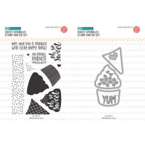 United We Flourish Stamp & Die Combo, Sweet Sprinkles by Concord & 9th -