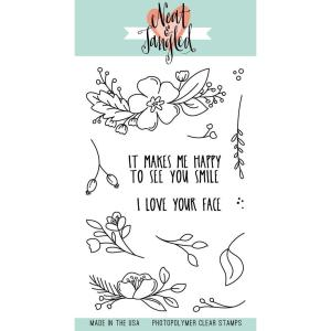 Neat & Tangled Clear Stamps, Friendly Florals - 817360022203