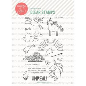 Essentials By Ellen Clear Stamps, Unicorns 'N Rainbows By Julie Ebersole -