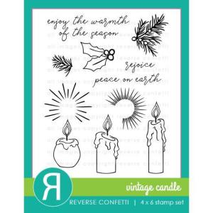 Christmas Candles, Reverse Confetti Clear Stamps -